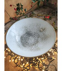 ceramiczna misa white z iskierkami