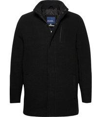 outerwear wollen jas lange jas zwart blend