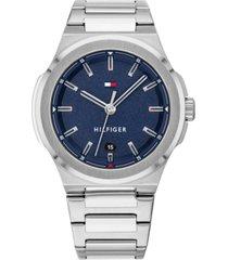tommy hilfiger men's stainless steel bracelet watch 43mm