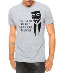 camiseta criativa urbana manga curta - masculino