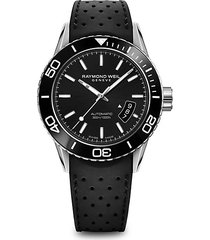 freelancer stainless steel & rubber-strap diver watch