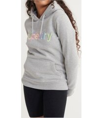 superdry women's classic rainbow embroidered hoodie