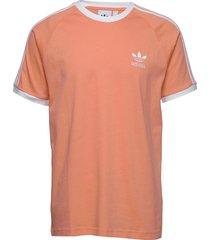 3-stripes tee t-shirts short-sleeved orange adidas originals