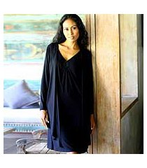 modal wrap top, 'chic in black' (indonesia)