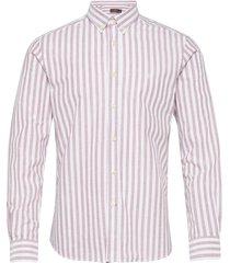 giles button down shirt skjorta casual röd morris