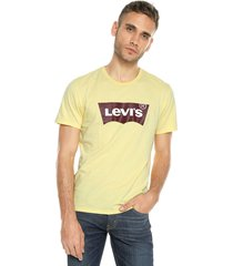 camiseta amarillo-vinotinto-blanco levis