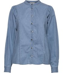 camil shirt långärmad skjorta blå minus