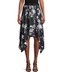 floral-print handkerchief skirt