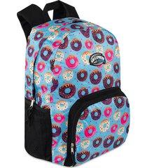 mochila donas estampada m.color para mujer croydon