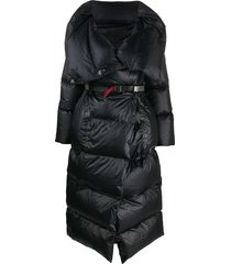 isaac sellam experience padded wrap coat with utility belt - black