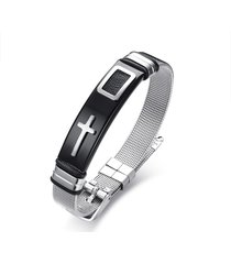 12mm mens bracciali punk catena in acciaio inossidabile croce regolabile wristband bracciale regalo per gli uomini