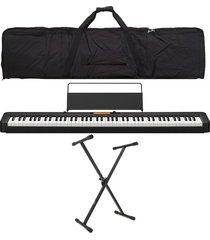 combo casio cdp-s350 piano base estuche