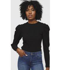 blusa colcci negro - calce slim fit