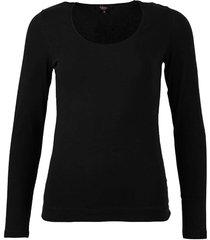 zwart basis shirt met lange mouw