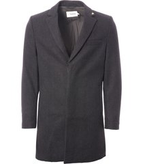 farah the portabello coat - grey marl f4rf7021