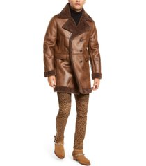i.n.c. men's faux suede faux fur jacket, created for macy's