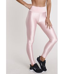 calça legging feminina esportiva ace com textura rosa claro