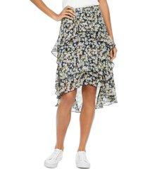 tommy hilfiger floral-print ruffled skirt
