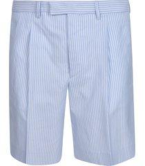 prada oxford riga fan shorts