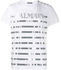 balmain mirrored square t-shirt - white