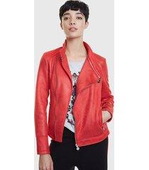 chaqueta desigual rojo - calce ajustado
