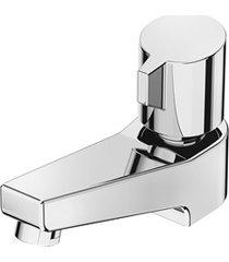 torneira de mesa para lavatório bica baixa fit cromada