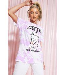 oversized cute tie dye t-shirt, pink