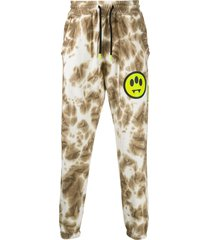 barrow tie-dye track pants - brown