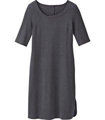 jersey jurk van bio-katoen, antraciet 36/38