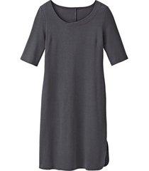 jersey jurk van bio-katoen, antraciet 52