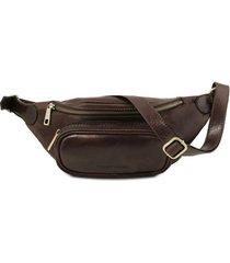 tuscany leather tl141797 marsupio in pelle testa di moro