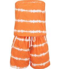 tuta in cotone corta a fascia (arancione) - bpc bonprix collection
