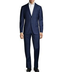 standard-fit micro-check wool suit