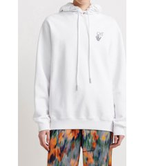 off-white oversized arrows white sweatshirt