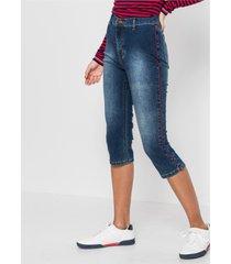 capri jeans met rode tape