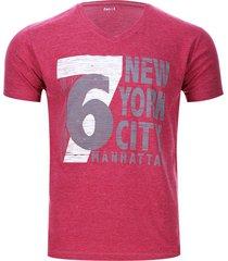 camiseta 6 new york color rojo, talla s