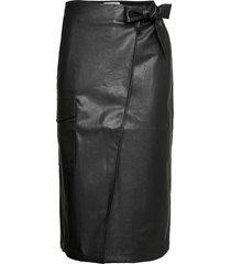 marie wrap skirt knälång kjol svart designers, remix