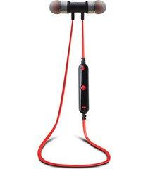 audífonos bluetooth, 91bl audifonos bluetooth manos libres  4.1 inalámbrico deportes portátil auriculares estéreo audifonos bluetooth manos libres  auricular con micrófono para teléfono (rojo)