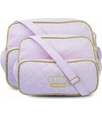 conjunto bolsa maternidade + frasqueira napa sarja coroa
