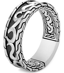 'classic chain' silver band ring