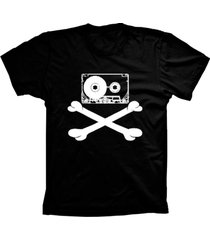 camiseta baby look lu geek fita caveira preto - preto - feminino - dafiti