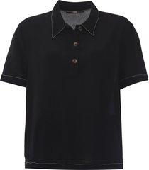 camisa forum pespontos preta