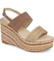 women's toni pons peru platform wedge sandal, size 10us - beige