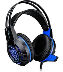 audífonos gamer, alta calidad k1t moda 7.1 usb rodeo estéreo micrófono de red juegos de ordenador profesional gaming auriculares (negro)