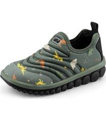 zapatilla roller 2.0 estampado dinosaurios gris bibi