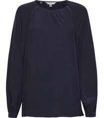 arica ls blouse blus långärmad blå tommy hilfiger