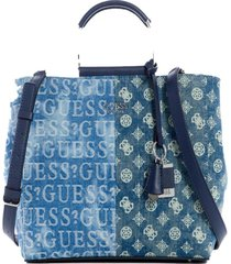 cartera kaylyn satchel den denim guess