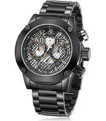 reloj de hombre t5 pulso acero h3657g-d - negro