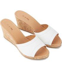 sandalias blancas color blanco, talla 39