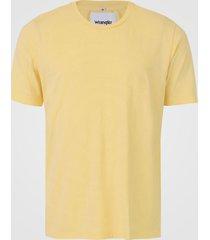 camiseta wrangler logo amarela - kanui